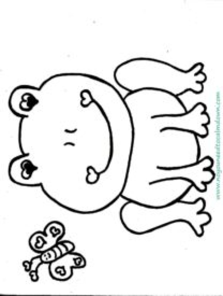 cute frog valentine's day coloring page