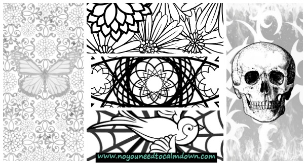 Adult Coloring Pages Free Printables No YOU Need To Calm Down