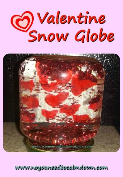 snow globe valentine's day craft