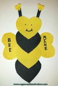 bee valentine's day craft