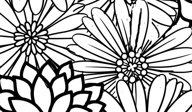 Free Printable Adult Coloring Page – Blossoms