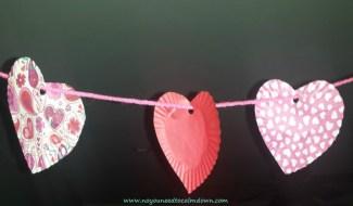 heart garland valentine's day craft