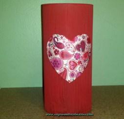vase valentine's day craft