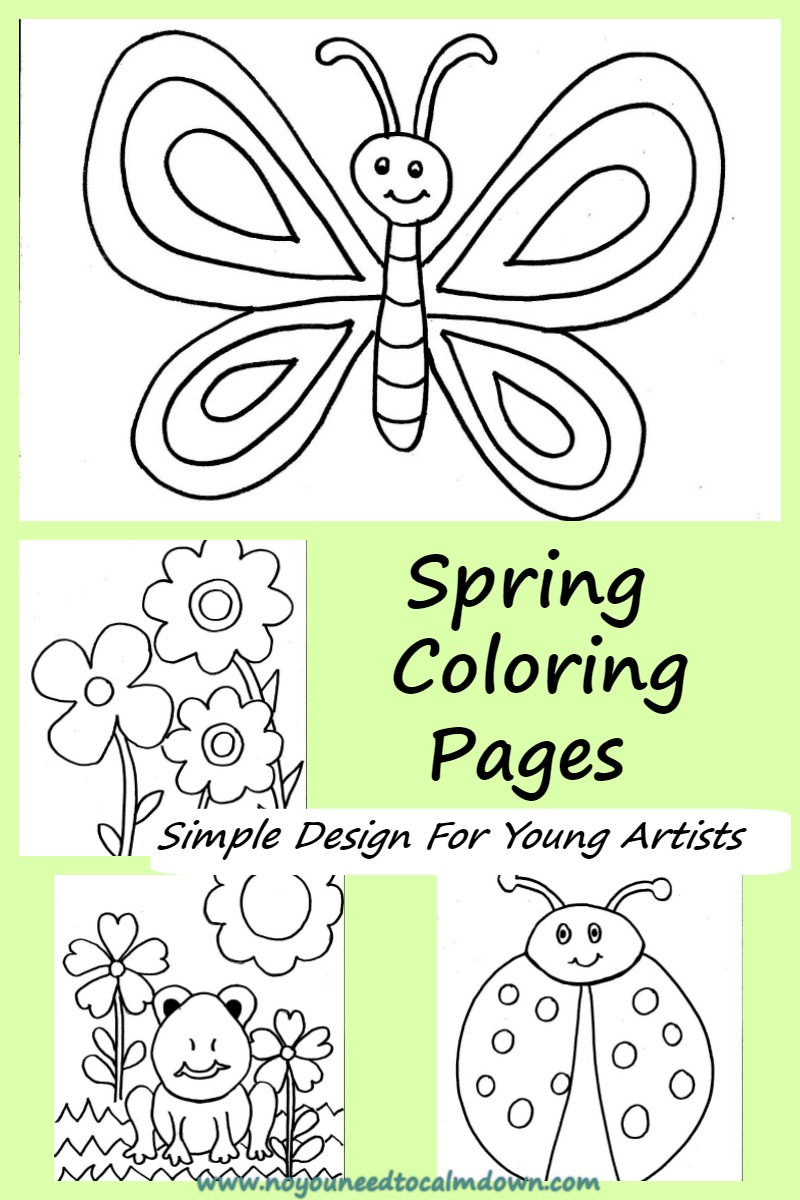 Spring Coloring Pages For Kids - Free Printable | No, YOU ...