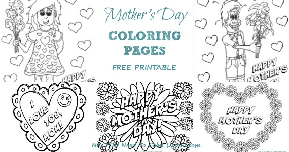 Mother's Day Coloring Pages For Kids – Free Printables