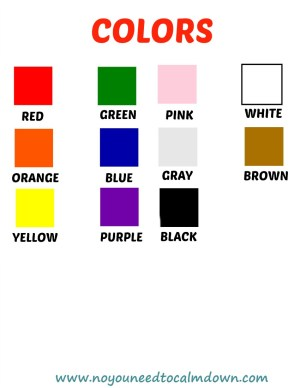 Colors Free Printables