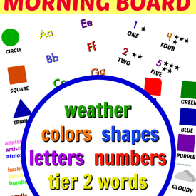 Morning Board Free Printables