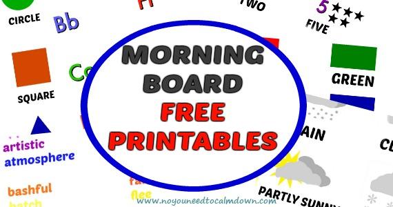 Morning Board Free Printables
