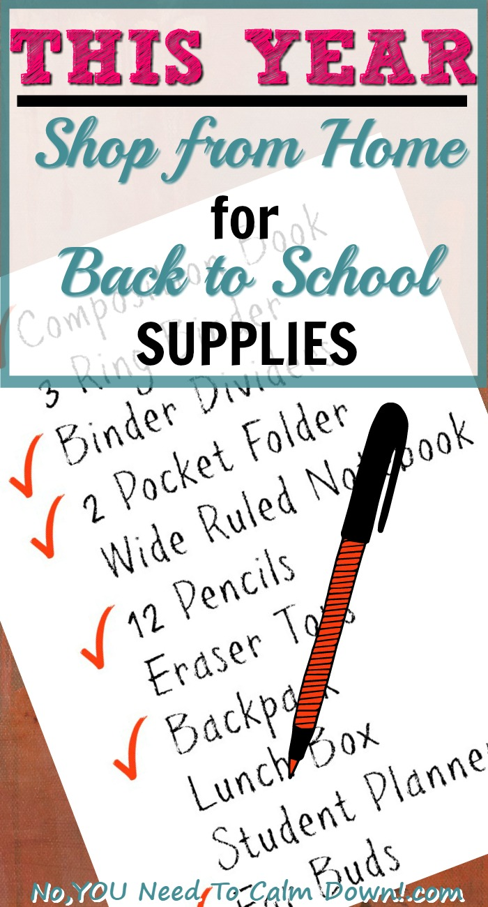 Shop from home for your back to school supplies this year. You can have everything on your list delivered to your door in just a couple of days!