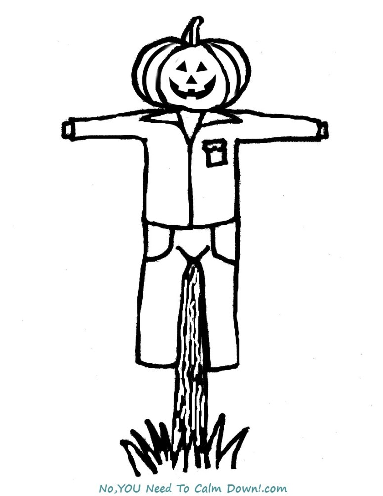 Scarecrow Coloring Pages | HALLOWEEN SCARECROW COLORING PAGES ... | 1003x775