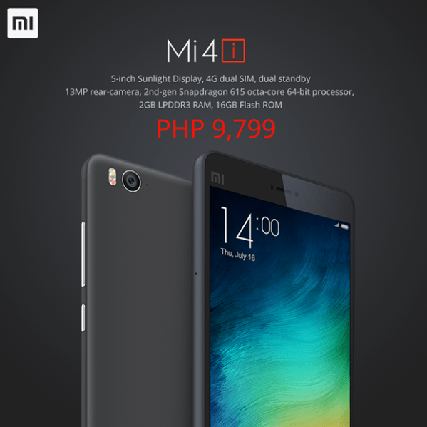 Xiaomi Mi4i Finally Arrives in the Philippines with Php9 ...