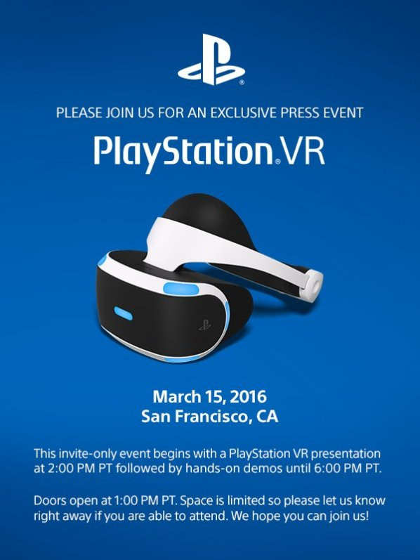 PlaystationVR Event March 2016