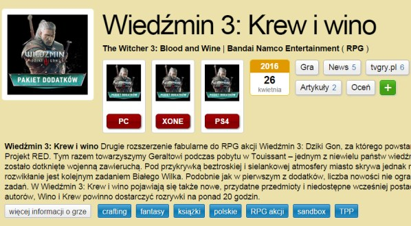 Blood And Wine Witcher 3 RD