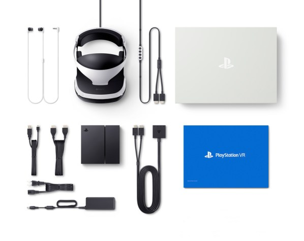 PS VR Package Content