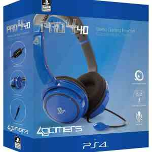 Auscultadores Gaming 4Gamers PRO4-40 Azul PS4