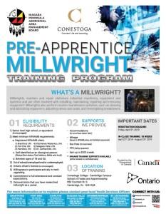Pre-Apprentice Millwright Training Program Flyer