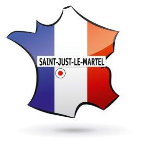 carte france saint just le martel