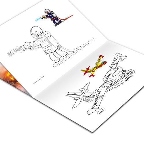image categorie coloriage de pompier