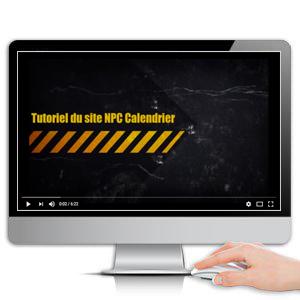 tutoriel video, calendrier sapeur-pompier, calendriers sapeurs-pompiers, npc-calendrier.fr