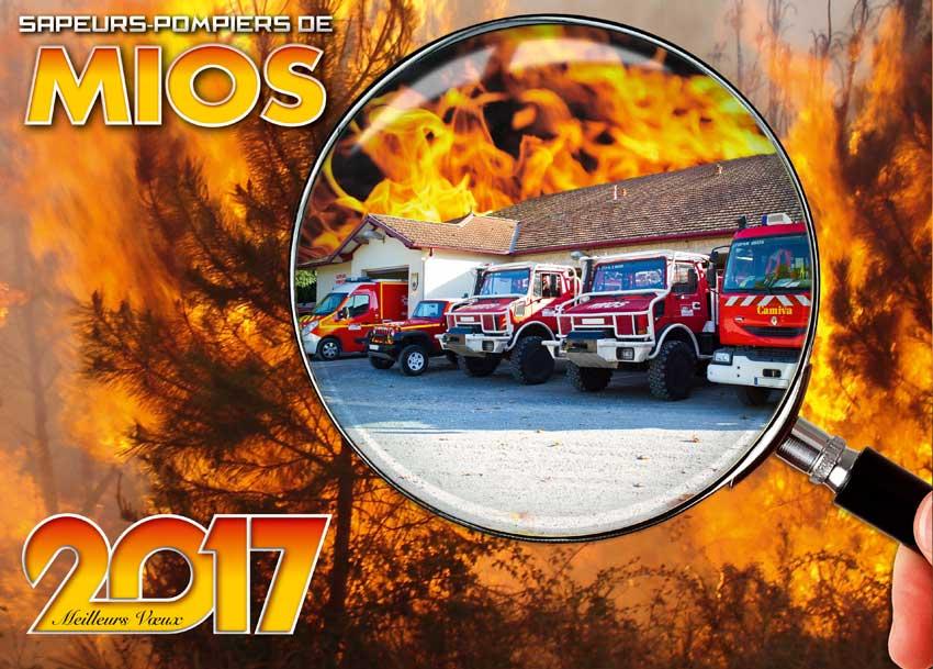 calendrier des sapeurs-pompiers de mios-2017, npc-calendrier.fr