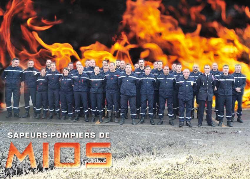 calendrier des sapeurs-pompiers de mios-2017-2, npc-calendrier.fr