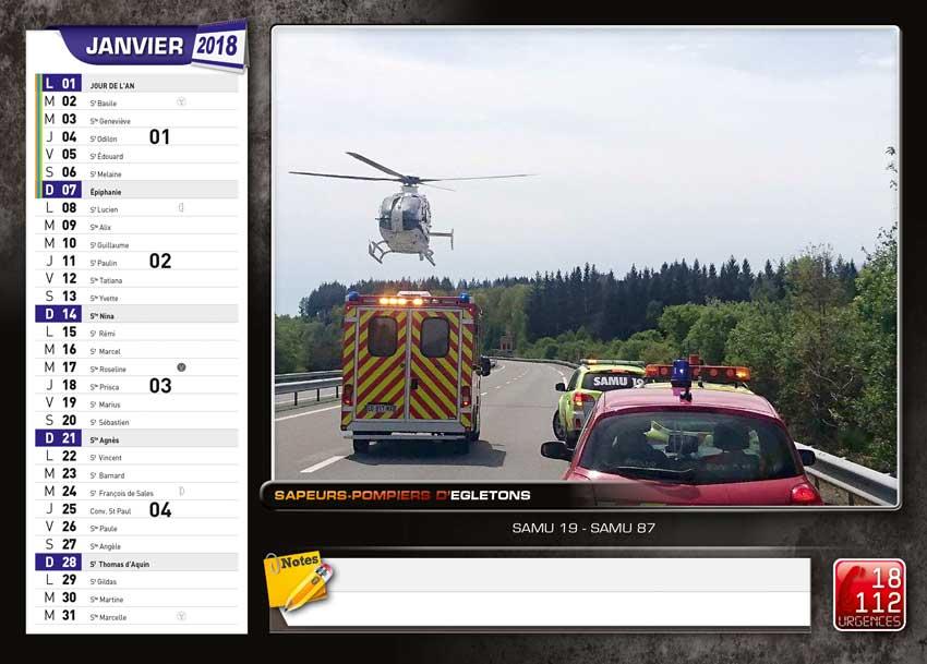 calendrier des sapeurs-pompiers de Egletons-2018-2, npc-calendrier.fr