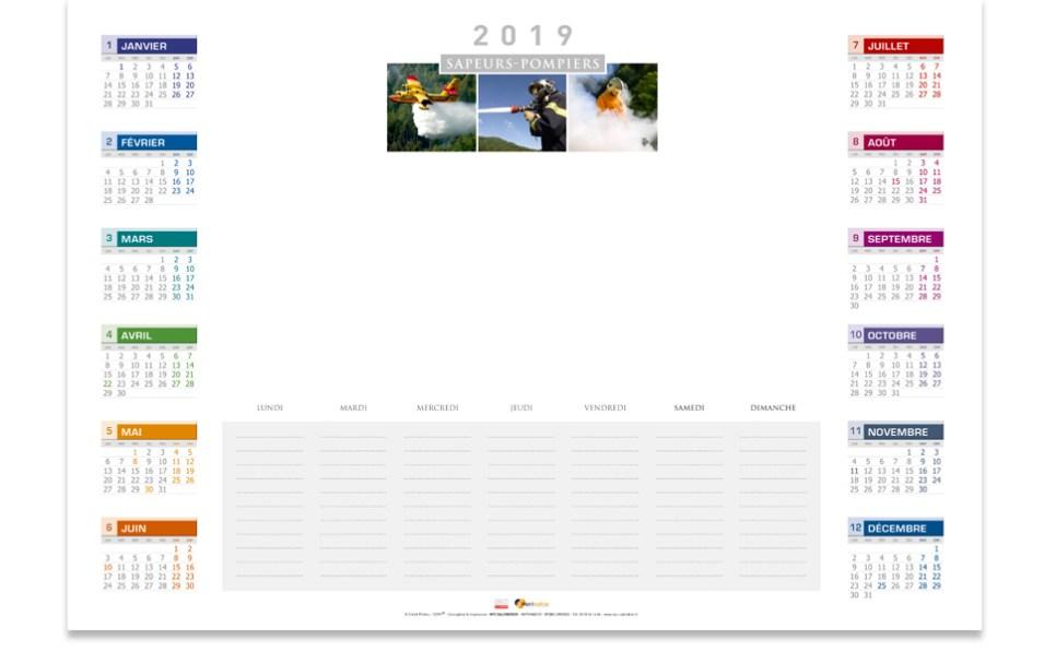 npc-calendrier-slider-2019-sous-main, npc-calendrier.fr, calendrier des sapeurs-pompiers, personnalisés, personnalisables, 2018