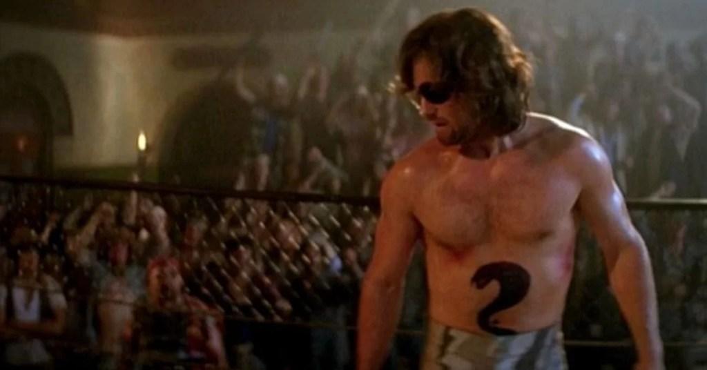 1997 Fuga da New York Kurt Russell in una scena