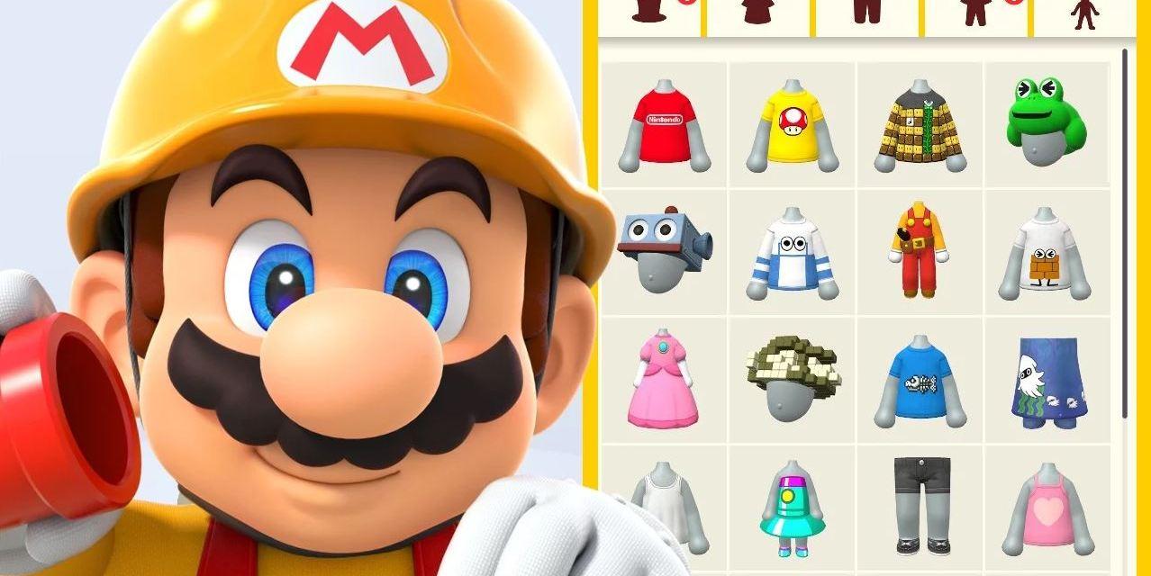 Come sbloccare tutti i vestiti Mii di Super Mario Maker 2