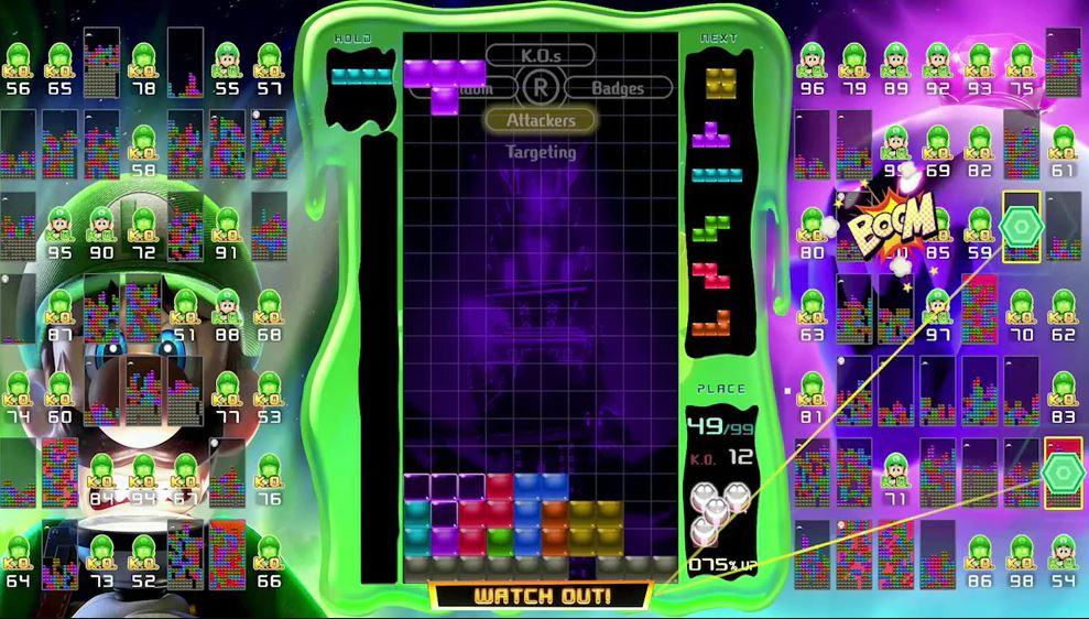 Luigi si unisce a Tetris 99 per il prossimo torneo Grand Prix