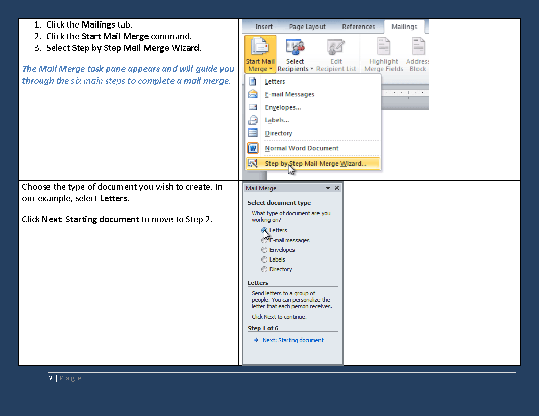 Microsoft Mail Merge With Word And Excel And Newer