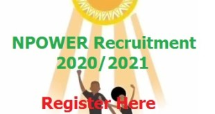 NPower 2020 Recruitment Application form for interested Candidates