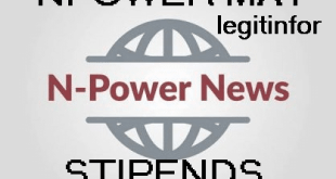 Npower May Stipends payment for all Beneficiaries see details and bank alerts