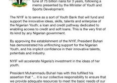 FG Approves Establishment Of Nigeria Youth Investment Fund Loan Of N75B Youth Bank