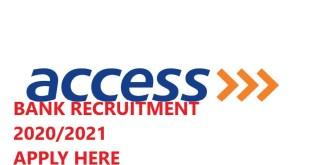 Access Bank massive Job Recruitment 2020 Apply here