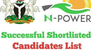 Npower Batch C List of Shortlisted Candidates 2020/2021 in 774 LGA Nationwide