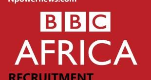 BBC World Service Job Recruitment-Editor Gist Nigeria 2020 Apply Here
