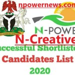 Npower Batch C List of Shortlisted Candidates for N-Creative 2020/2021 check here
