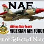 Nigerian Air force List of Successful Candidates for Airmen & Women Recruitment 2020