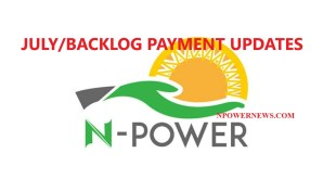 Npower July Stipends and Backlog Payment GIFMIS to commence Payment- Date of Payment