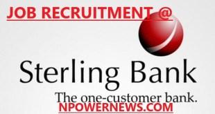Sterling Bank Job Recruitment- Talent Acquisition Partner 2020