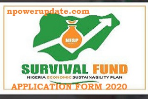 Survival Fund Loan Scheme Application Form 2020/2021 register here