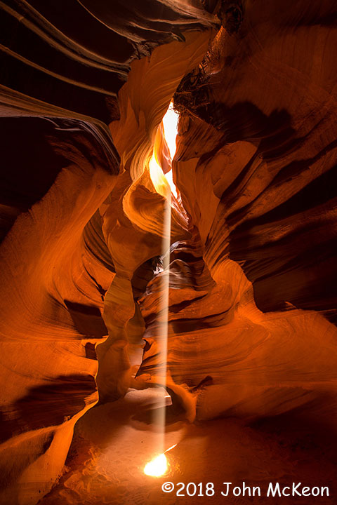 2nd Place Scenic - Slot Canyon Ray by John McKeon