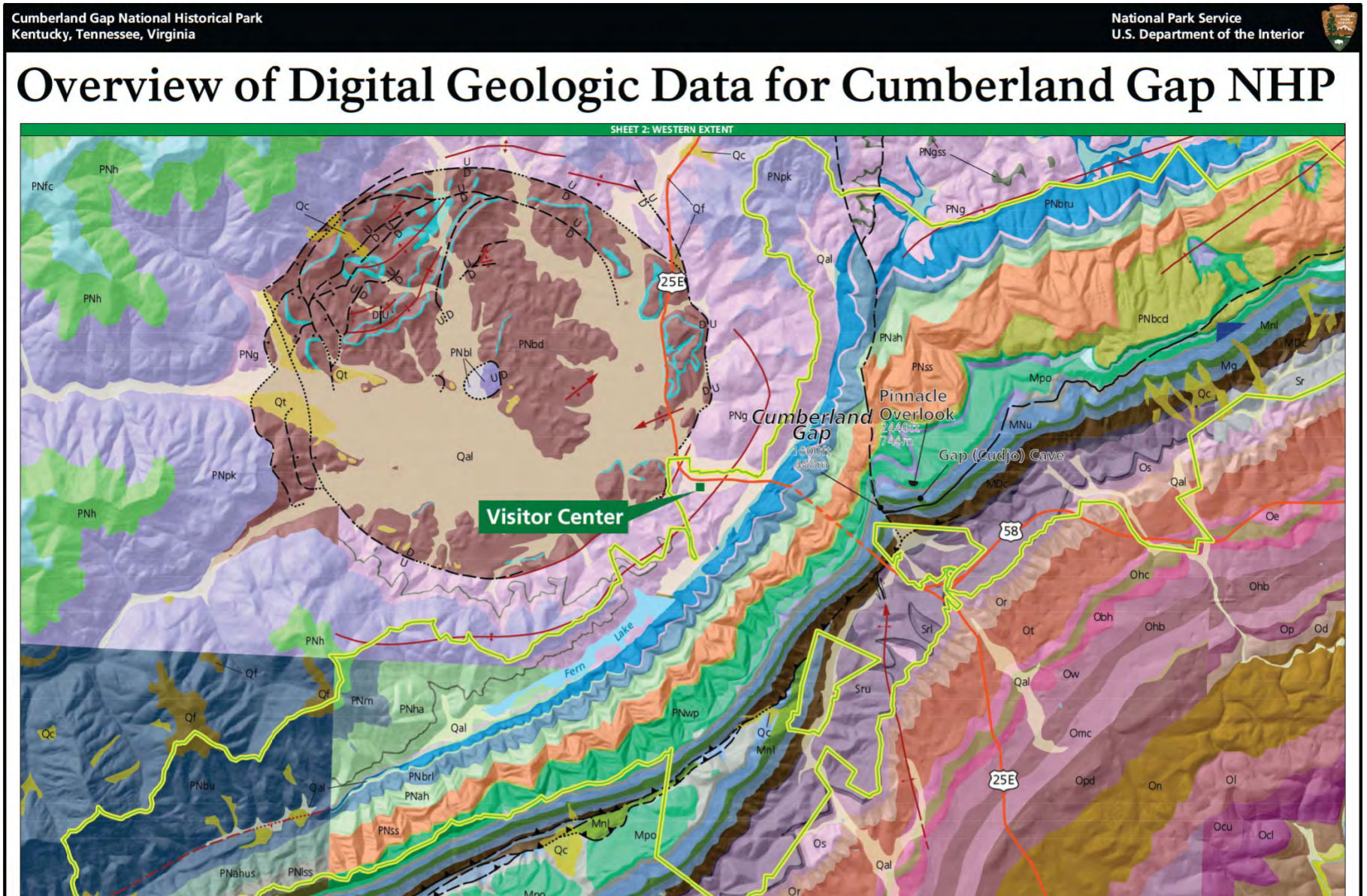 Nps Geodiversity Atlas Cumberland Gap National Historical
