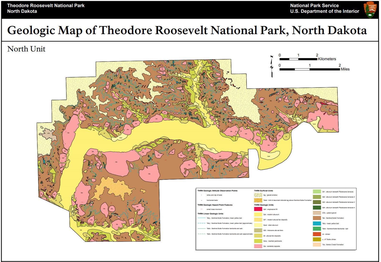 Nps Geodiversity Atlas Theodore Roosevelt National Park