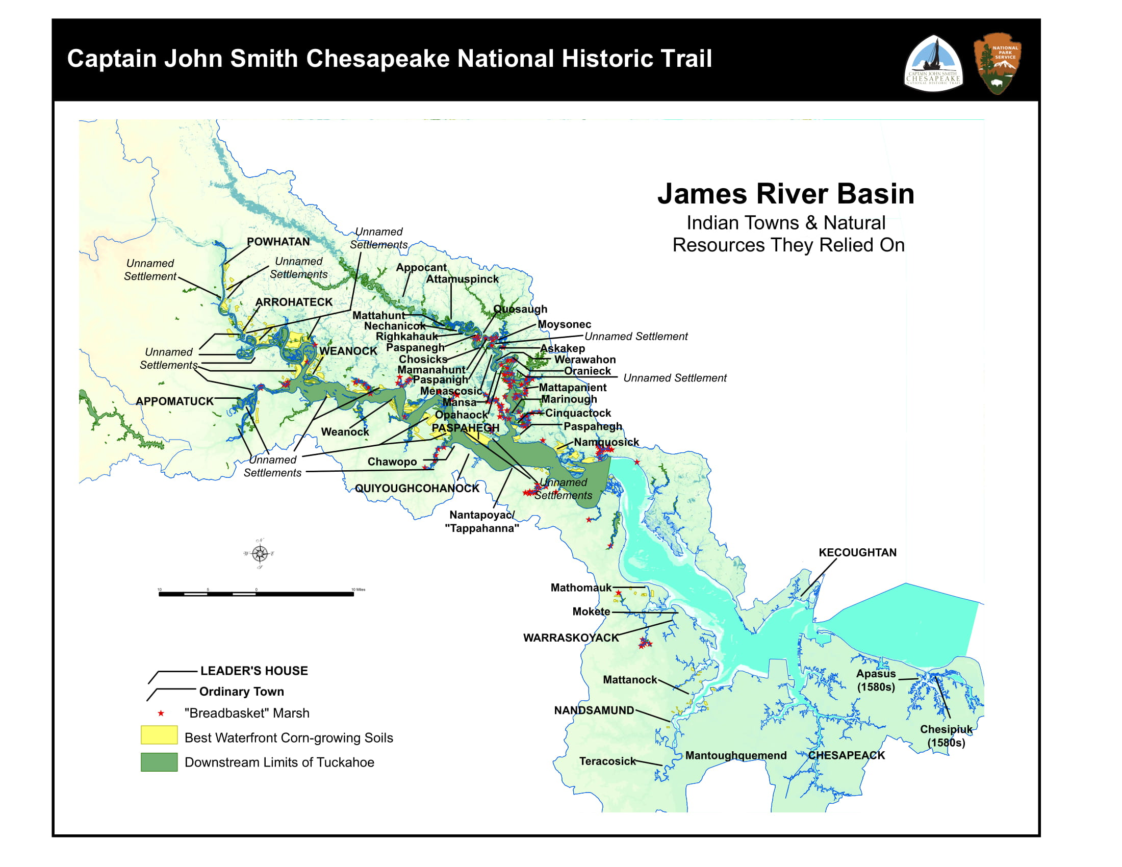 James river landing united states usa map nona net James River Basin Captain John Smith Chesapeake National Historic Trail U S National Park Service