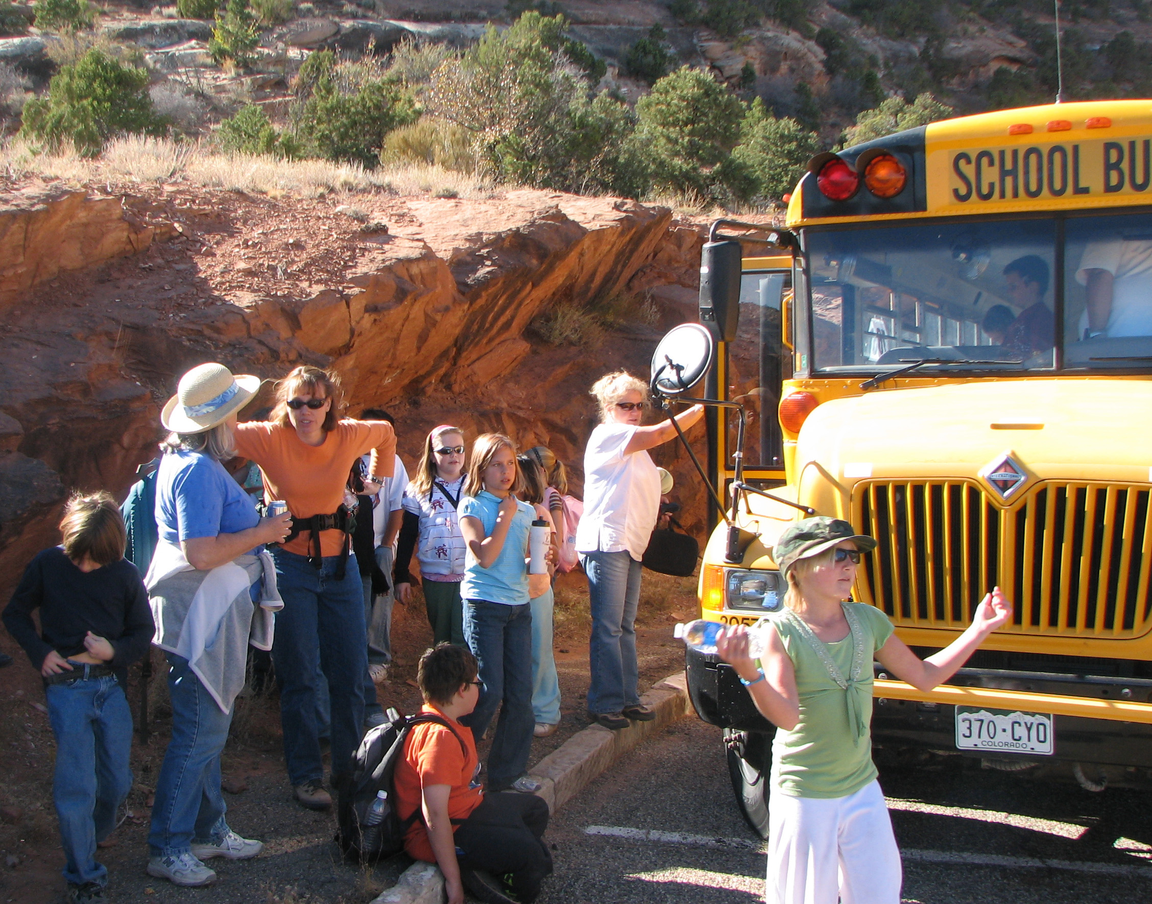 Students on a field trip.