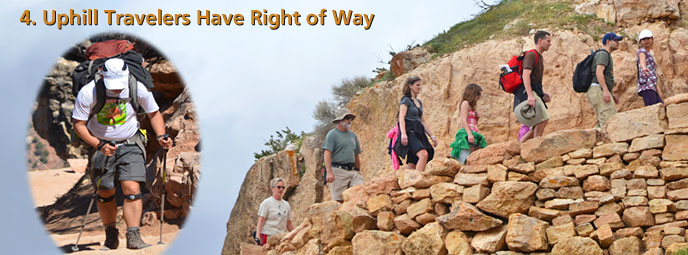 4. Uphill travelers have right of way