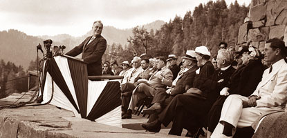 Franklin D. Roosevelt dedicated the Great Smoky Mountains National Park on September 2, 1940,