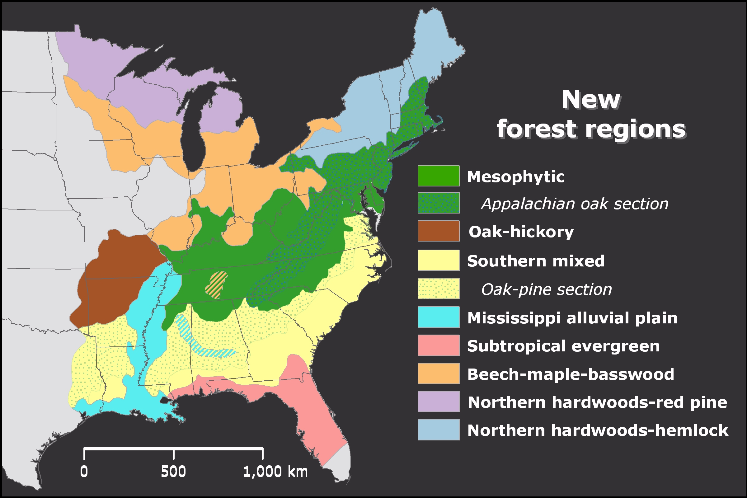 Reference grid for usgs topo maps. Eastern Deciduous Forest U S National Park Service